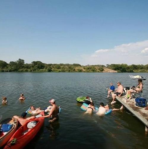 Lake Marble Fallsin The Highland Lakes Of Central Texas